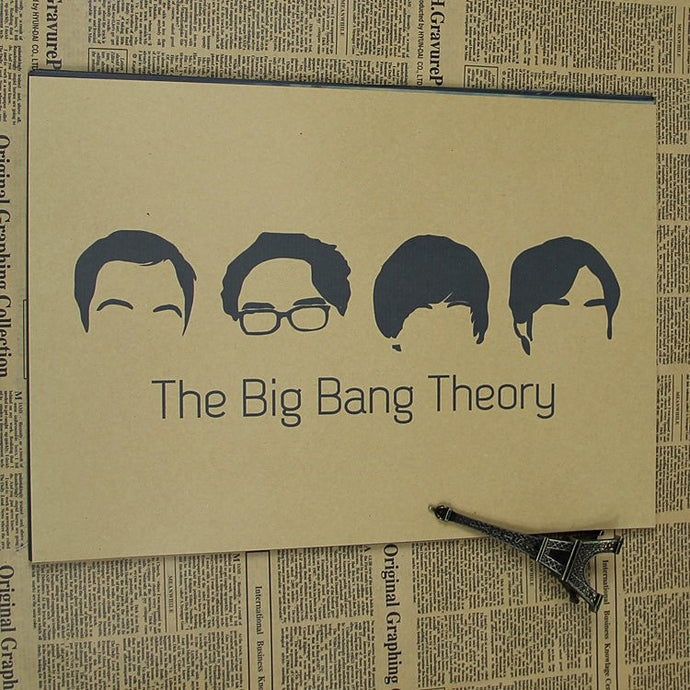 The Big Bang Theory Vintage Classic Movie Poster
