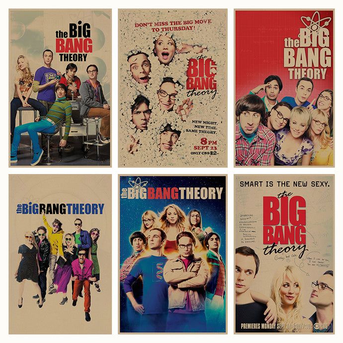 The Big Bang Theory Poster Retro