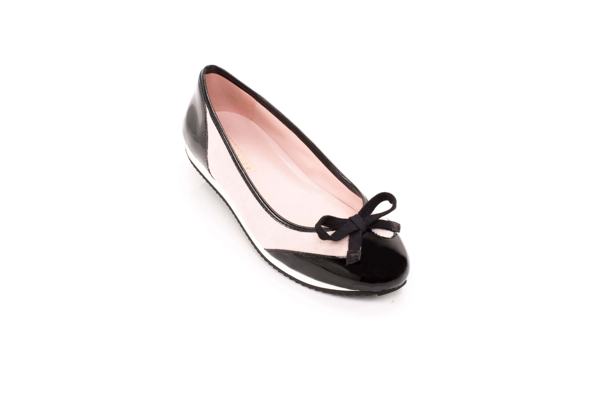 Black and blush sneakerpump by Sloafer - the elegance and simplicity of a ballet pump, the comfort and support of a sneaker.