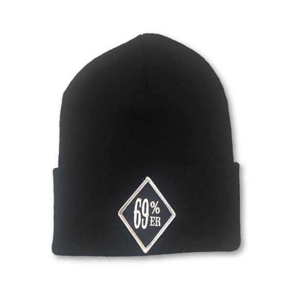 "New Drop! THIGHBRUSH BIKERS ""69 PERCENTER"" Diamond Patch Cuffed Beanies"