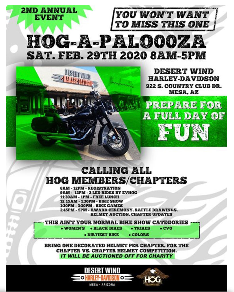 HOG-A-PALOOZA - Desert Wind Harley-Davidson -  Saturday, February 29, 2020 - THIGHBRUSH®
