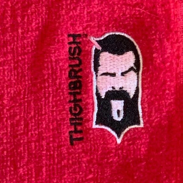 "Brand New THIGHBRUSH® Golf ""Clean-up"" Towel in Red - 1 for $12.00 or 2 for $20.00!"