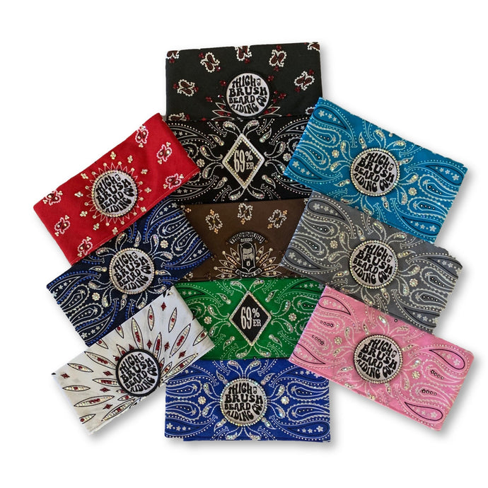 "BRAND NEW THIGHBRUSH® ""BLINGED OUT"" BANDANAS!"