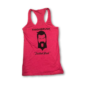 "NEW! THIGHBRUSH ""Tickled Pink"" Ladies Tank Top in Heather Fuchsia"