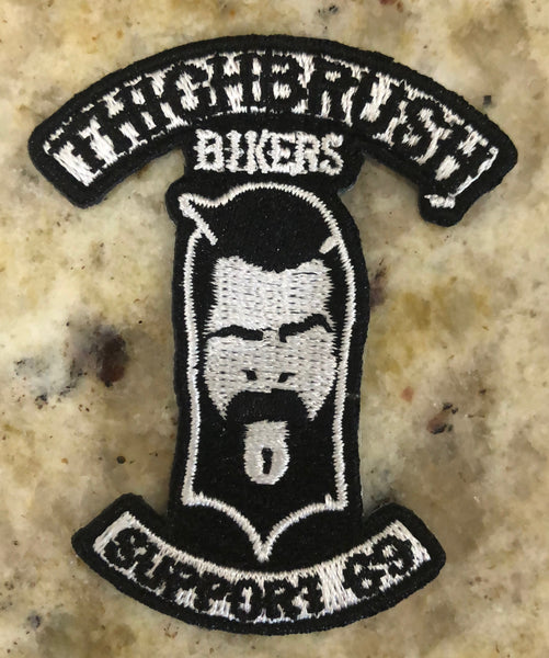 "THIGHBRUSH BIKERS - ""Support 69"" Patch - Black and White (Sew-on)"