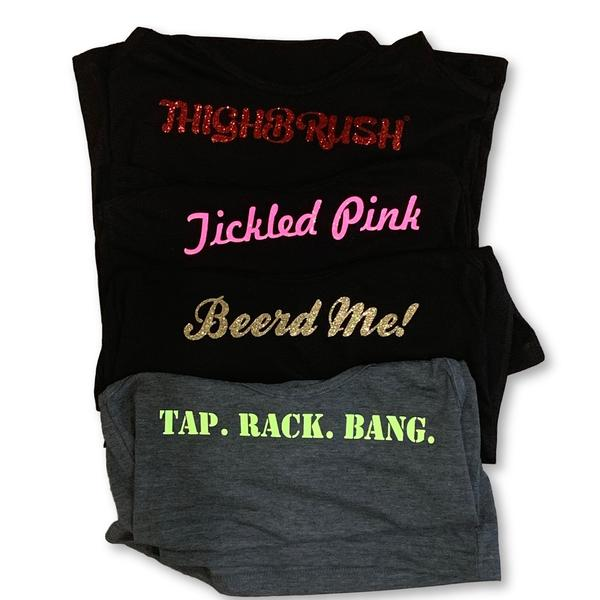 "NEW! THIGHBRUSH® ""Glitter Tanks"" for the Ladies!"