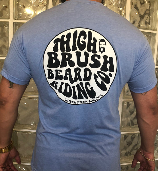 "THIGHBRUSH ""Beard Riding Company"" Men's Logo T-Shirt - Light Blue"