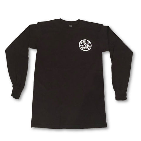 THIGHBRUSH® BEARD RIDING COMPANY - LONG SLEEVE T-SHIRT - BLACK