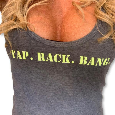 "THIGHBRUSH® ""Tap. Rack. Bang."" - Women's Tank Top"