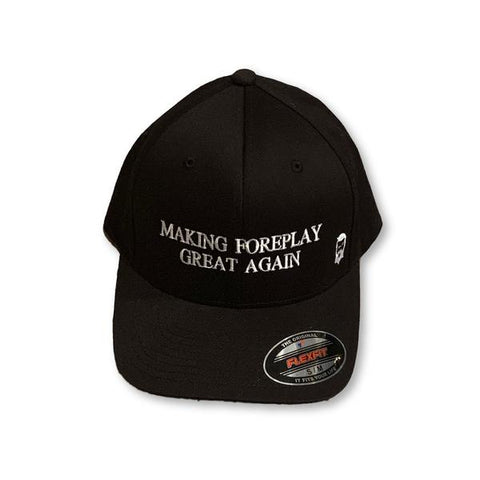 "THIGHBRUSH® ""Making Foreplay Great Again"" FlexFit Hat in Black"