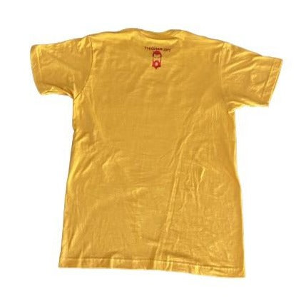 "THIGHBRUSH® ""LICKAMANIA"" MEN'S T-SHIRT - YELLOW-GOLD"