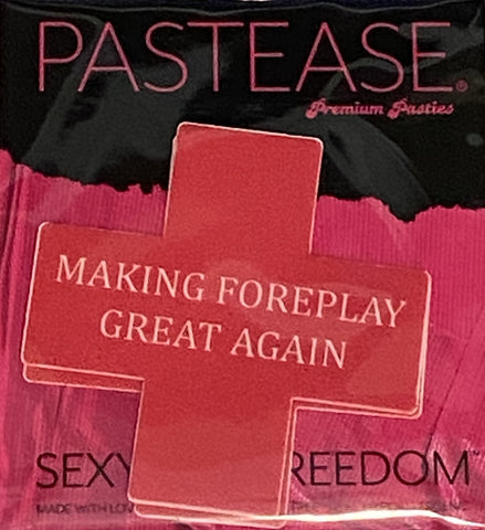 "Pastease® Premium Pasties for THIGHBRUSH® - ""Making Foreplay Great Again"" - Red"