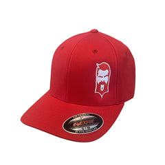 THIGHBRUSH®FLEXFIT HAT IN RED WITH WHITE LOGO