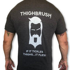 "THIGHBRUSH ""If it Tickles Thighs, it Flies!"" Men's T-Shirt"