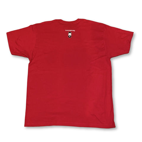 """THIGHBRUSH® - """"Making Foreplay Great Again"""" - Men's T-Shirt - Printed Front - Red"""