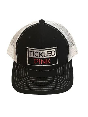 "THIGHBRUSH® ""Tickled Pink"" - Trucker Snapback Hat - Black and White"