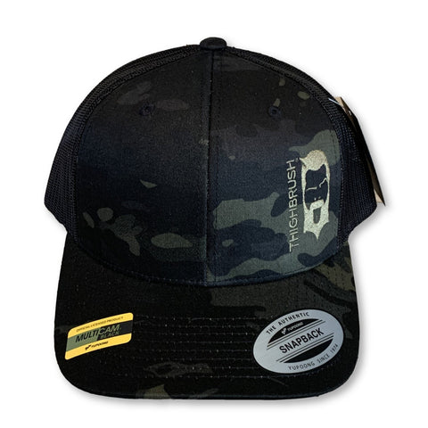 THIGHBRUSH® Trucker Snapback Hat - Camo - Multicam Black