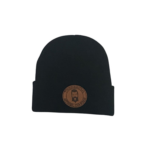 THIGHBRUSH® APPAREL COMPANY - Cuffed Beanies - Leather Patch on Front