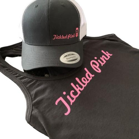 "THIGHBRUSH® ""TICKLED PINK"" HAT AND TANK TOP"