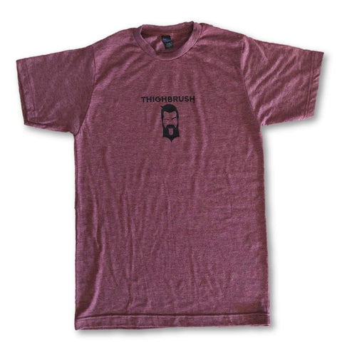 "LIMITED EDITION - THIGHBRUSH® - No Shave ""MOW""vember - Men's T-Shirt - Black Cherry and Black"