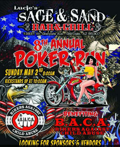 8th Annual Poker Run - Lucie's Sage & Sand - Benefiting BACA - May 2, 2021