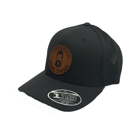 THIGHBRUSH® APPAREL COMPANY - Snapback Hat with Leather Patch - Charcoal Grey
