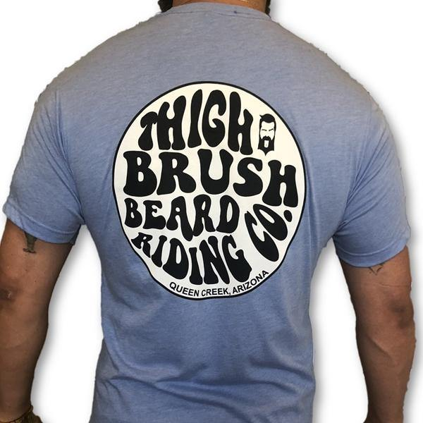 THIGHBRUSH BEARD RIDING COMPANY - Men's Logo T-Shirt - Light Blue - THIGHBRUSH®