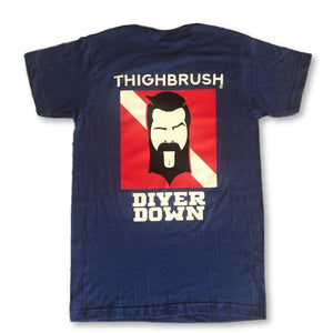 "LIMITED EDITION - THIGHBRUSH® - ""Diver Down"" - Men's T-Shirt - Heather Blue - thighbrush"