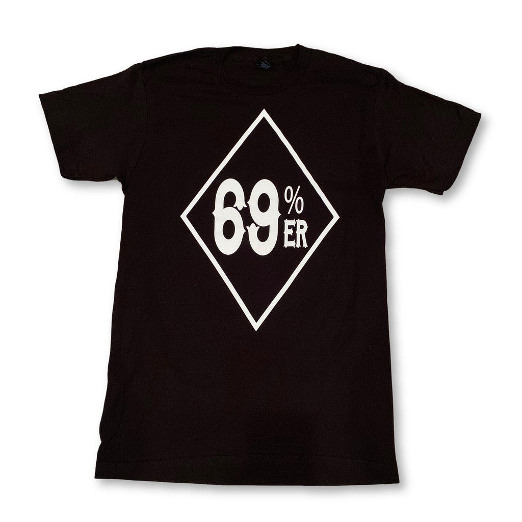 "THIGHBRUSH® BIKERS - ""69% ER"" - Men's T-Shirt - Black - thighbrush"