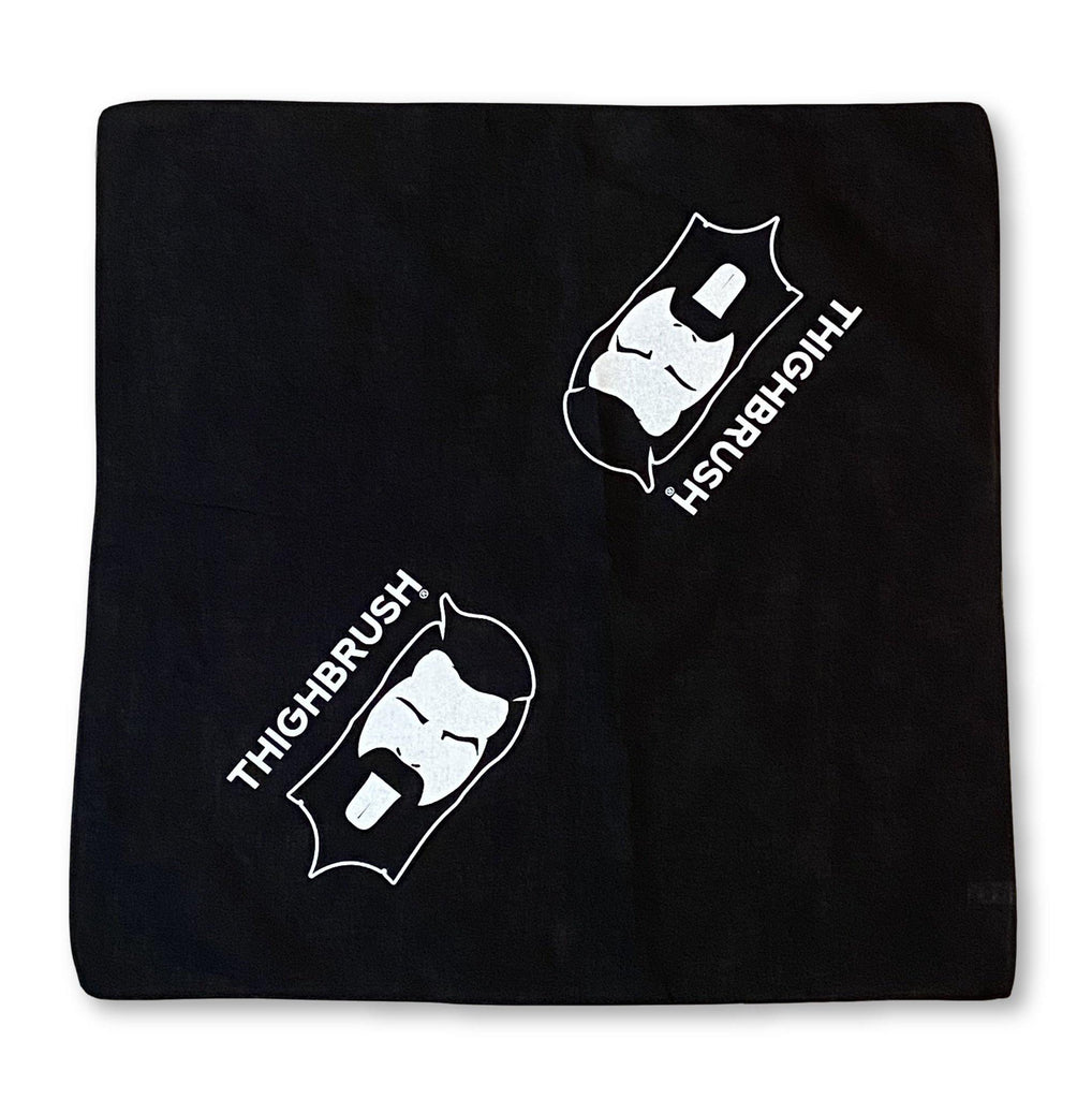 THIGHBRUSH® LOGO  BANDANA IN BLACK