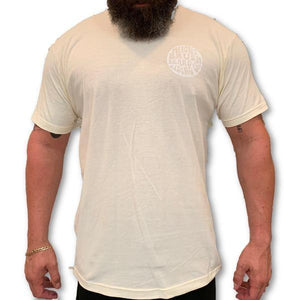 THIGHBRUSH® BEARD RIDING COMPANY - Men's Logo T-Shirt - Natural with White Logo - thighbrush
