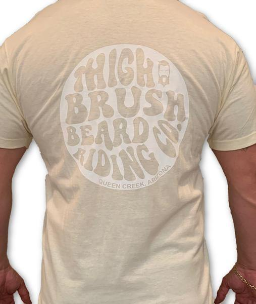THIGHBRUSH BEARD RIDING COMPANY - Men's Logo T-Shirt - Natural with White Logo