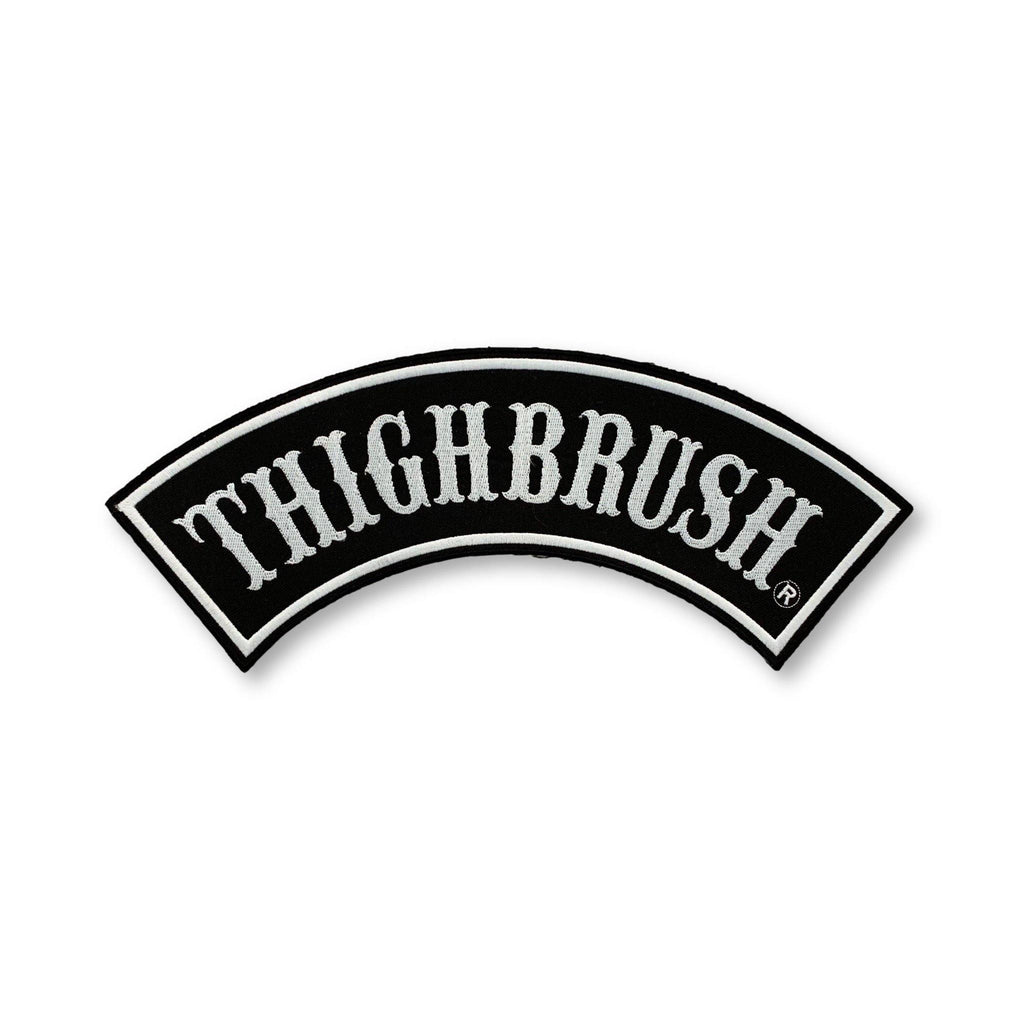 "THIGHBRUSH - ""THIGHBRUSH"" Rocker Patch - Black and White (Sew-on) - thighbrush"