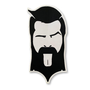 THIGHBRUSH - Large Logo Face Patch - Black and White (Sew-on) - thighbrush