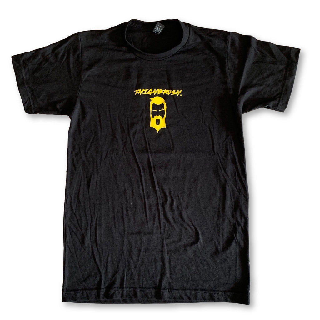 "LIMITED EDITION - THIGHBRUSH® - ""COBRA THIGH"" - Men's T-Shirt - Black with Yellow - thighbrush"