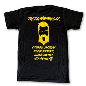 "THIGHBRUSH® - ""Cobra Thigh"" - Men's T-Shirt - Black with Yellow"