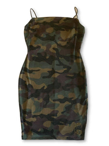 THIGHBRUSH® - Women's Camo Print Mini Dress - thighbrush