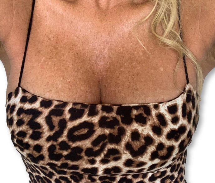 THIGHBRUSH® - Women's Leopard Print Mini Dress - thighbrush