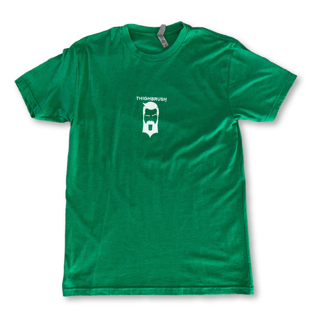 LIMITED EDITION - THIGHBRUSH® - XXX-MAS...For Your Ho-Ho-Ho's - Men's T-Shirt - Green and White - thighbrush