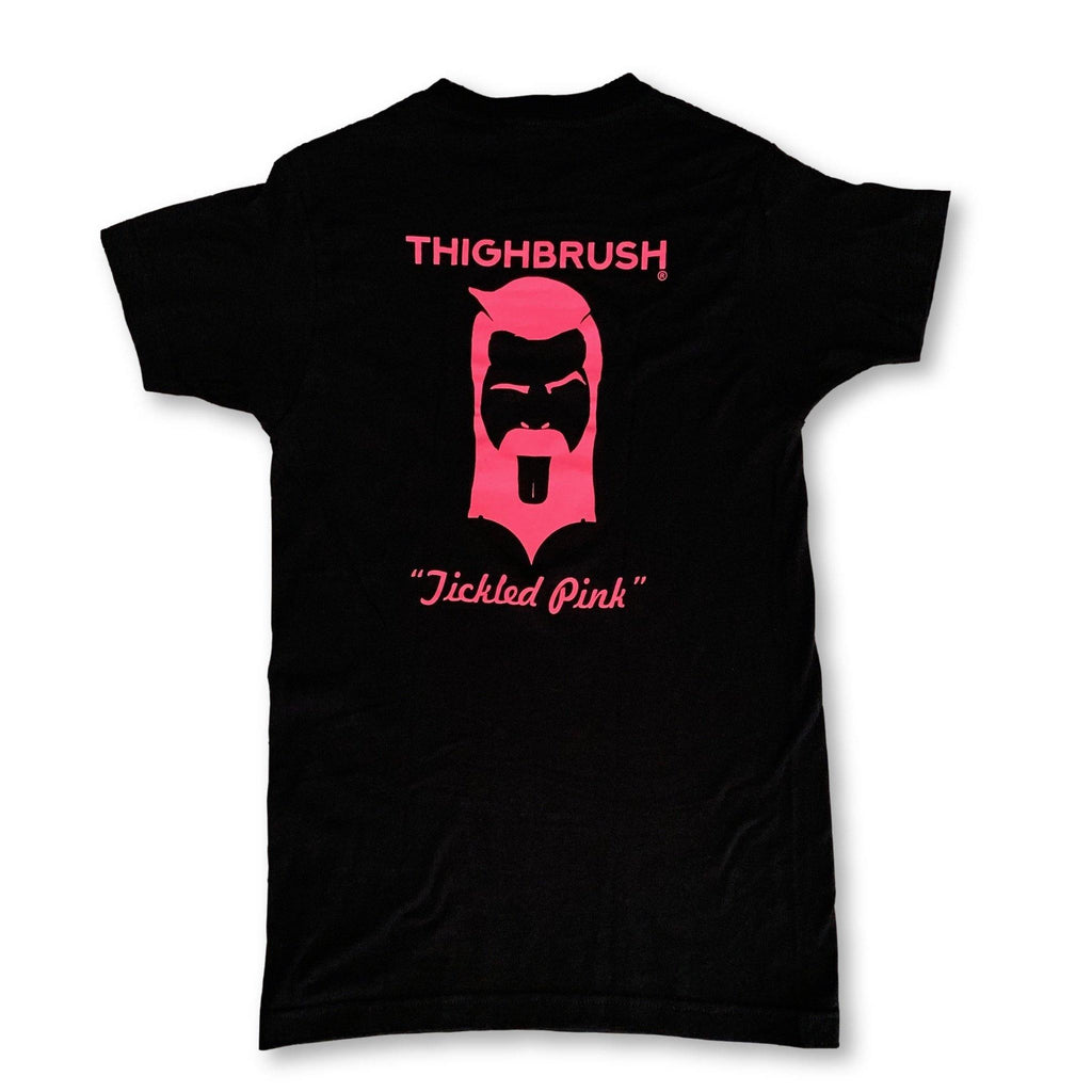 "THIGHBRUSH® - ""Tickled Pink"" - Men's T-Shirt - Black and Pink - thighbrush"