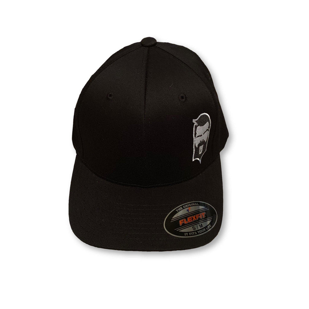 THIGHBRUSH® - FlexFit Hat - Black on Black with 2-Tone Face Logo - thighbrush
