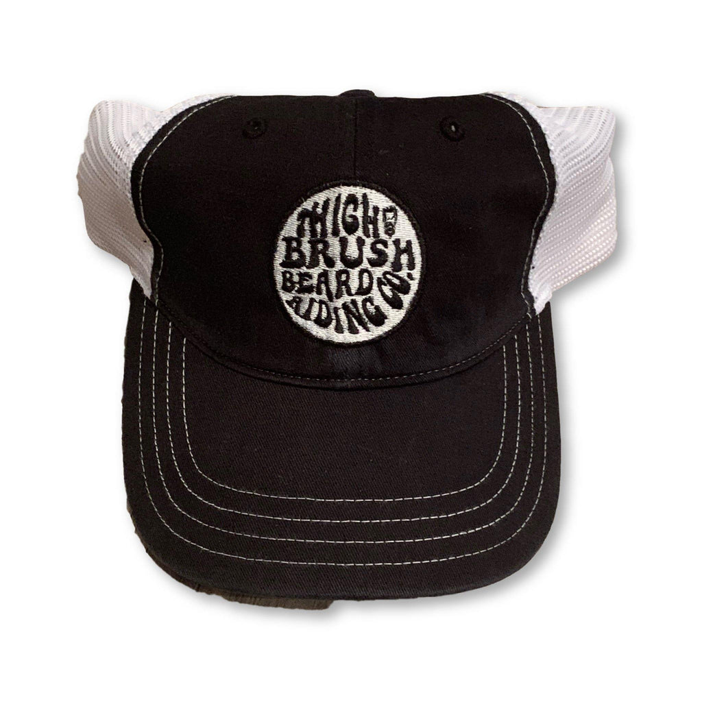 THIGHBRUSH® Beard Riding Company - Unstructured Snapback Hat  - Black and White - thighbrush