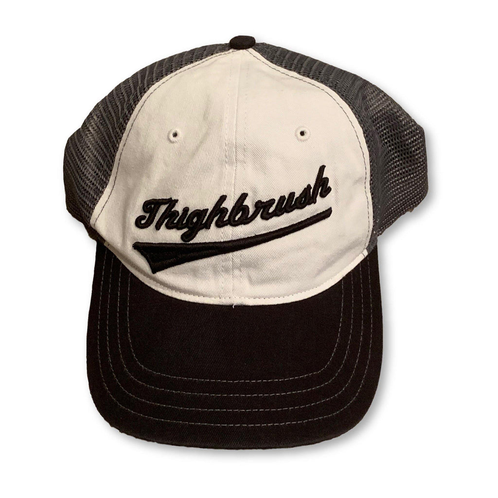 THIGHBRUSH® - Unstructured Snapback Hat  - Black and Charcoal - thighbrush