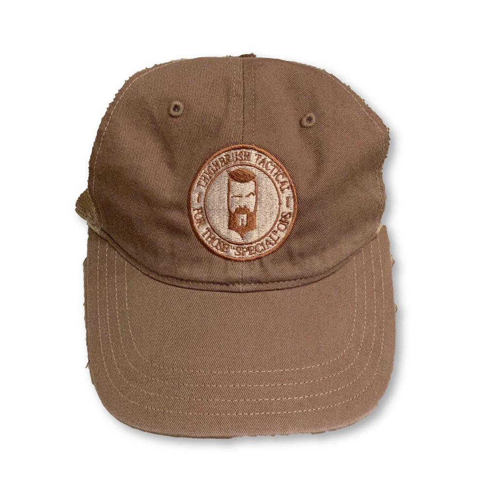 THIGHBRUSH® TACTICAL - Unstructured Snapback Hat  - Dark Khaki and Light Khaki - thighbrush