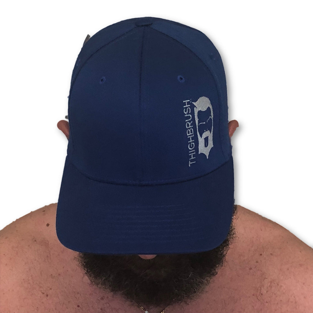 THIGHBRUSH® - FlexFit Hat - Royal Blue with Grey - #THIGHBRUSHNATION - thighbrush