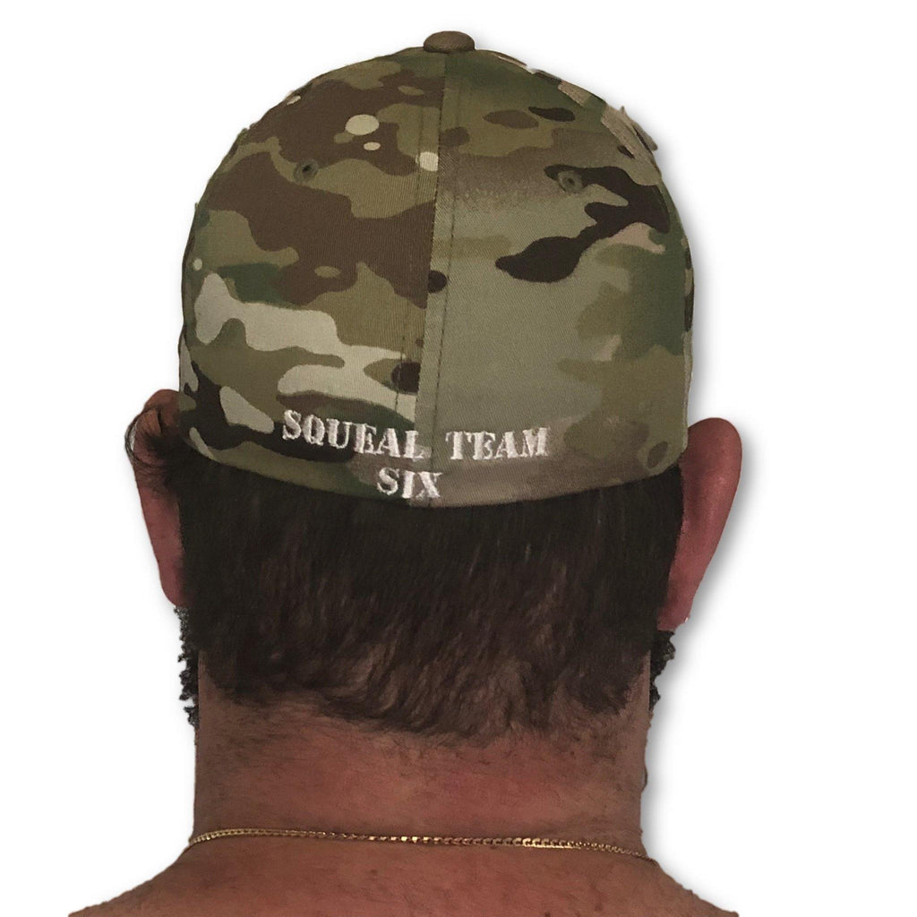 THIGHBRUSH®TACTICAL - FlexFit Hat - Camo - Multicam - Squeal Team Six - thighbrush