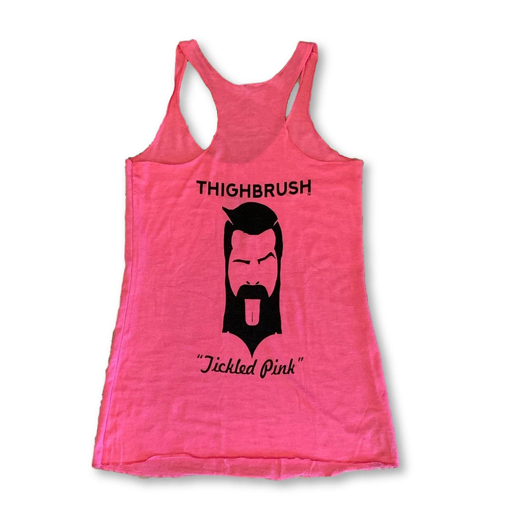 "THIGHBRUSH® - ""Tickled Pink"" - Women's Tank Top - Pink and Black - thighbrush"