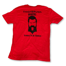 "THIGHBRUSH® BIKERS - ""Grown to be Ridden"" - Men's T-Shirt - Red and Black - thighbrush"