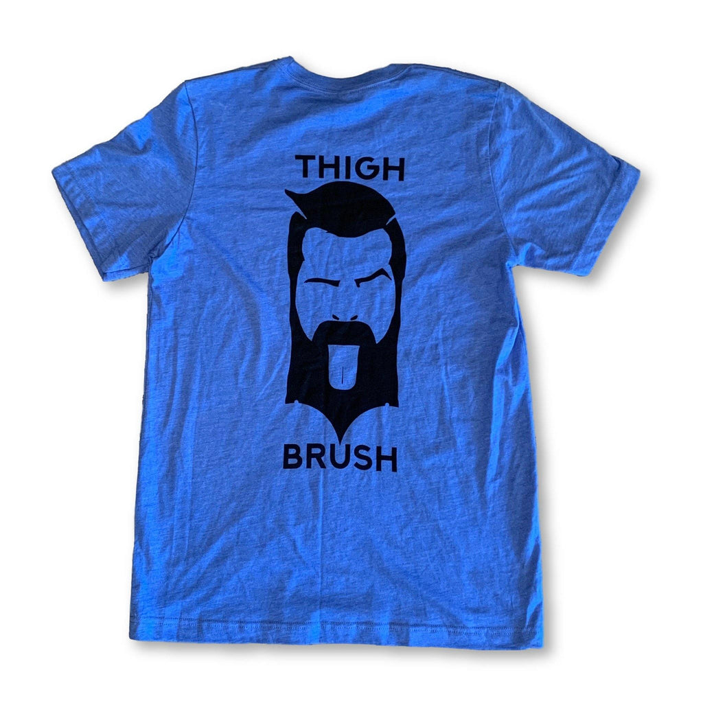 "THIGHBRUSH® - ""GOT THIGHBRUSH?"" - Men's T-Shirt - Royal Blue and Black - thighbrush"