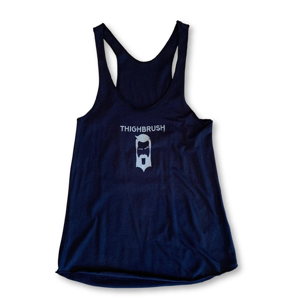 "THIGHBRUSH® - ""Strong Enough for a Man, But Made for a Woman"" - Women's Tank Top - Navy Blue - thighbrush"